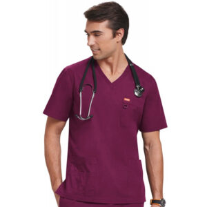 Orange Balboa Scrub Top – Fuchsia (Unisex)