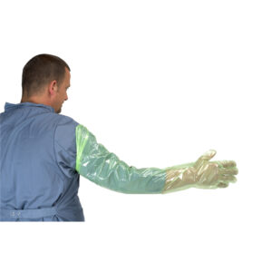 Kruuse Arm Length Soft Green Gloves