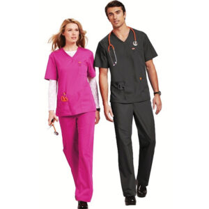 Orange Balboa Scrub Trousers – Fuchsia (Unisex)