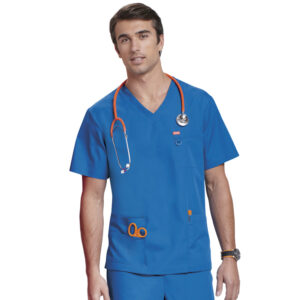 Orange Balboa Scrub Top – Royal Blue (Unisex)