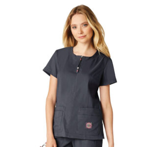 Koi Lite Scrub Top Serenity – Charcoal (Female)
