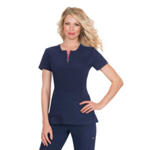 Koi Lite Scrub Top Serenity – Navy (Female)