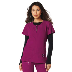 Koi Lite Scrub Top Serenity – Raspberry (Female)