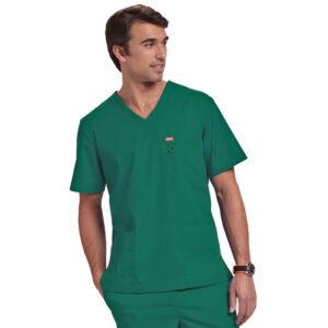 Orange Balboa Scrub Top – Hunter Green (Unisex)